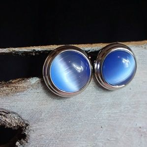Other - Classic Cuff Links Blue Tiger's Eye & Silver NWOT